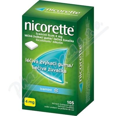 Nicorette Icemint Gum 4 mg léčivá žvýkací guma 105