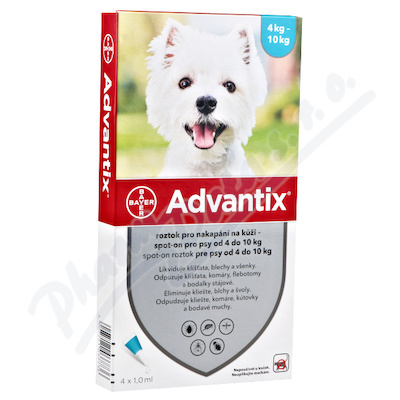 Advantix pro psy 4-10kg spot-on 1x1ml