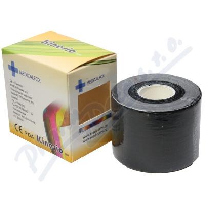 FOX MUSCLE TAPE kinezio tejp.páska černá 5cmx5m