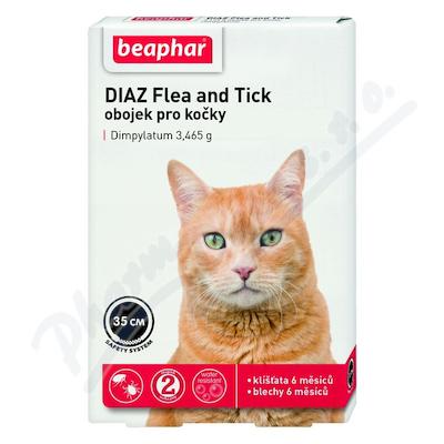 DIAZ Flea and Tick 3.465g obojek pro kočky 35cm