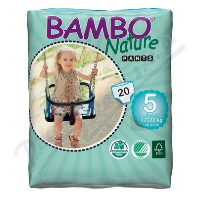 BAMBO Nature Pants Junior navl.plen.k.trénink 20ks