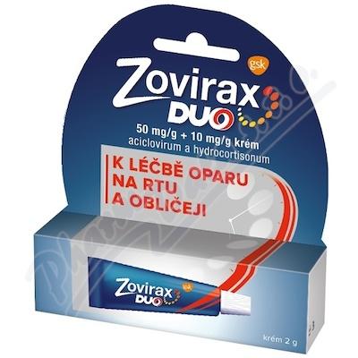 Zovirax duo 50mg/g+10mg/g krém crm 1x2g II CZ