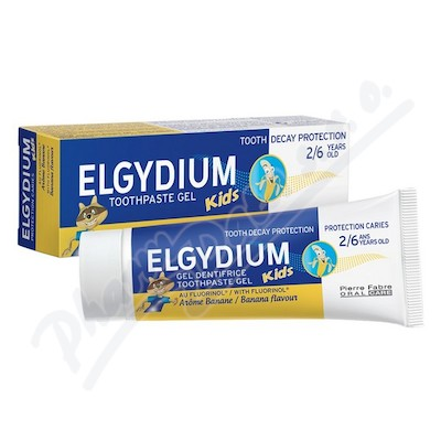 ELGYDIUM Kids zub.pasta gel 2-6 let 50ml banán