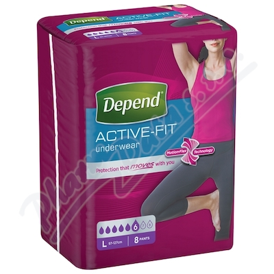 Depend Active-Fit inkont.kalh.ženy vel.L 8ks