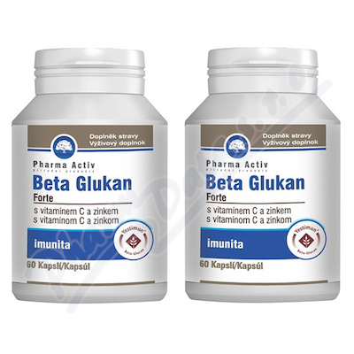 Beta Glukan Forte AKCE 1+1 vit.C a zinek cps.60