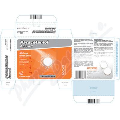 Paracetamol Accord 500mg tbl.eff.24