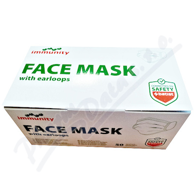 FACE MASK zdravotnická maska s gumičkami 50ks