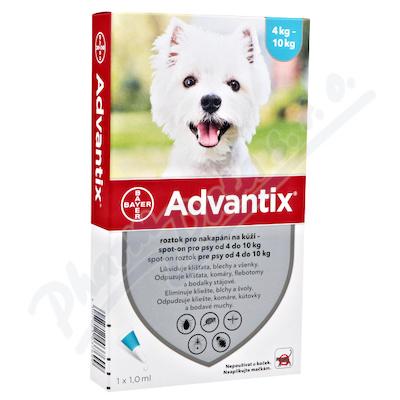 Advantix pro psy 4-10kg spot-on a.u.v.4x1ml