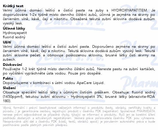 ApaCare POLISH: pasta s HYDROXYAPATITEM 20ml