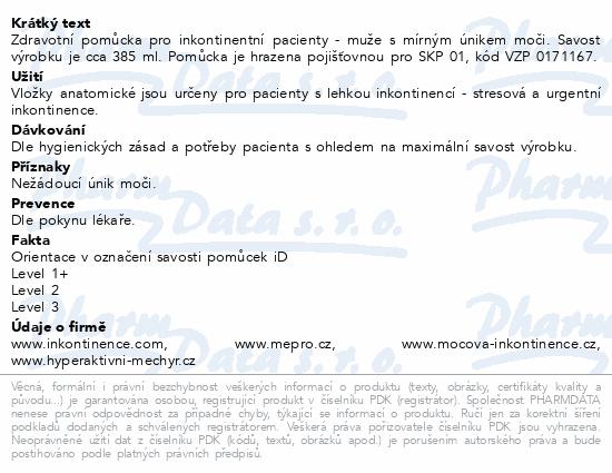 Vložky absorpční iD for men Level 1+ (10ks)
